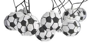 Außen Lichterkette mit 10 Lampions EM WM Fußball LED Solar Fanartikel Party