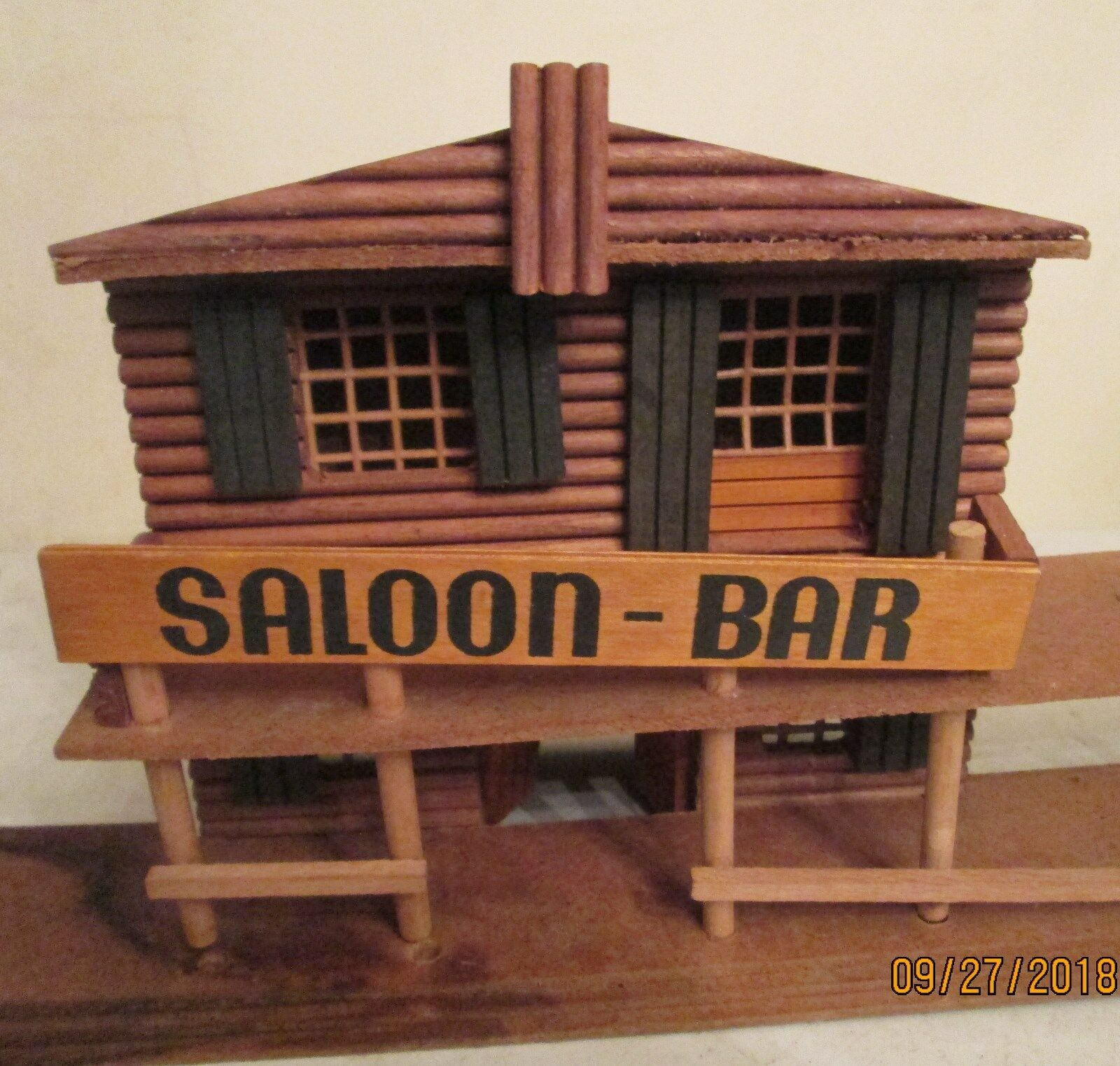 Western Play Set Set Set SALOON by Oehme & Son Log Cabin From Street Scene 8.25 x8 x4  3d4a8b