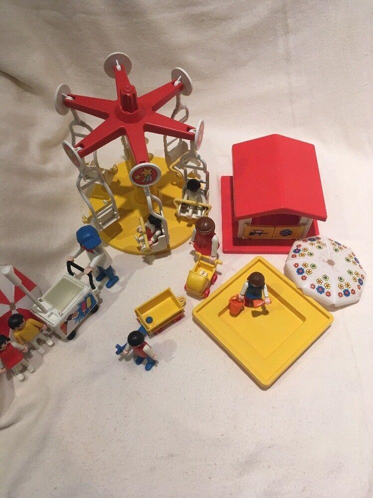 Playmobil Lot 3195 Merry Go Round 3563 Ice Cream Cart 3497 Sandbox Playhouse
