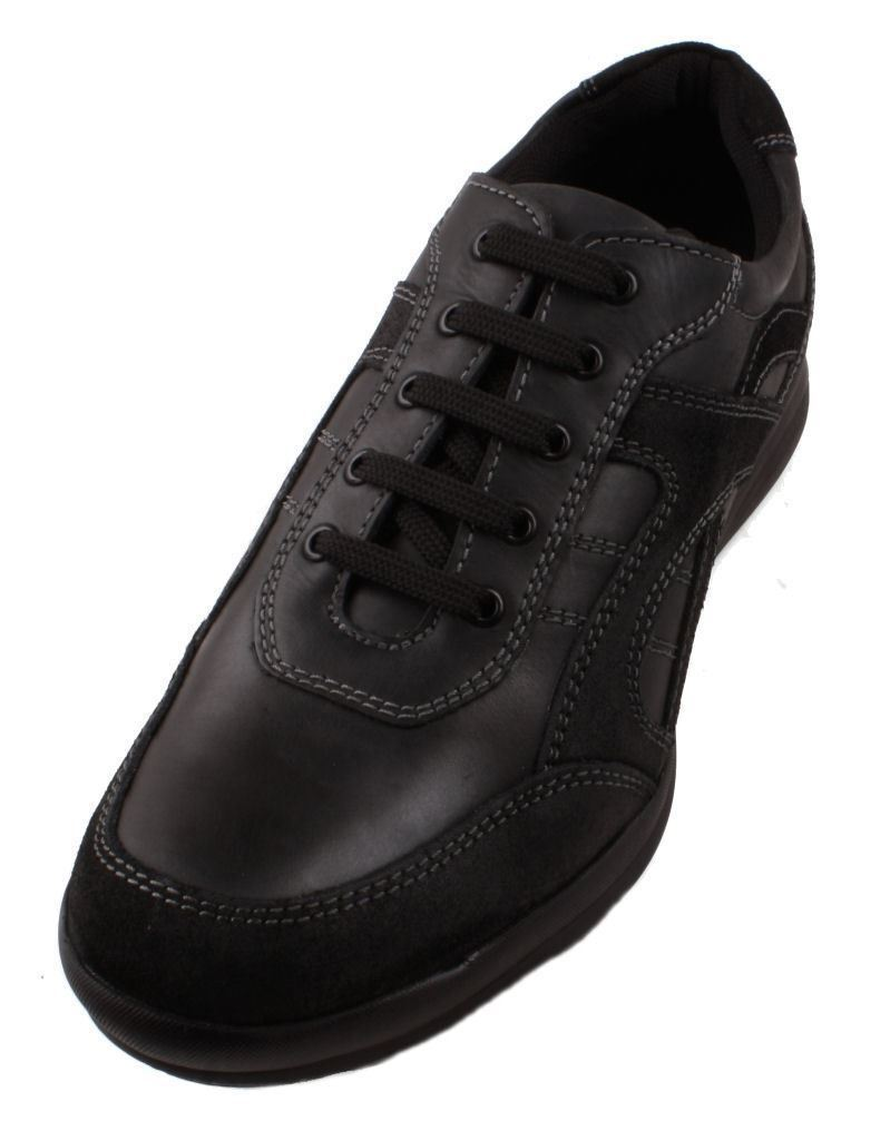 Kenneth Kenneth Kenneth Cole Reaction Base Jump Hombre Negro Leather Casual Sneakers Talla 12 0e9828