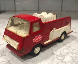 Vintage-Tonka-Mini-Red-Fire-Truck-Pressed-Steel-6-inch