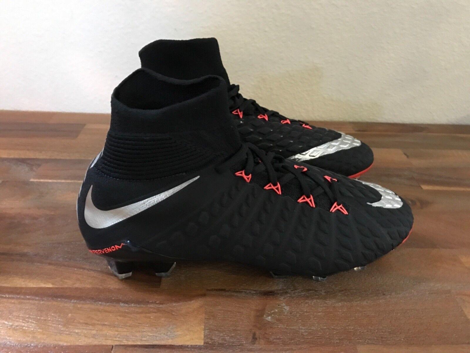 Nike Hypervenom Phantom 3 DF FG Soccer Cleats 860643 001 Men  8.5, Women 10