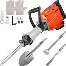 Vevor Demolition Jack Hammer Concrete Breaker 3600w Electric Hammer4 Chisel Bit
