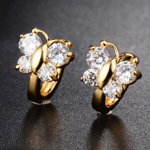 fa4d1c25d Image is loading Girls-18K-Gold-Filled-butterfly-jewelry-Love-Statement-