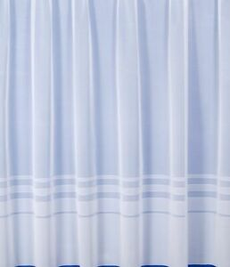 """STRIPE DESIGN QUALITY NET CURTAIN MADE 2 MEASURE DROPS 20""""-90"""" SOLD BY THE METRE"""
