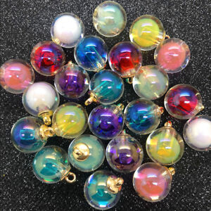 NEW-DIY-8PCS-16MM-Mini-Glass-Bottles-with-Beads-Pendant-Ornaments-Jewelry-Making