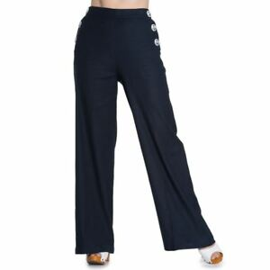 PLUS-SIZE-HIGH-WAIST-FLARED-TROUSERS-PANTS-VINTAGE-ANCHOR-BUTTON-WORK-18-20-20