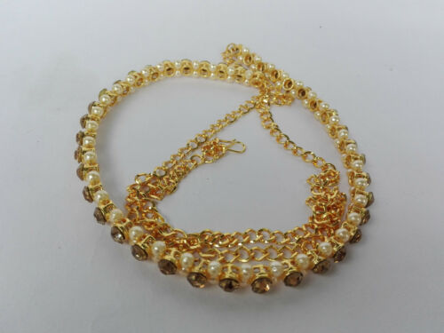 Indian Ethnic Traditional Gold Tone Chain Kamar Bandh Hip Ceinture Bijoux