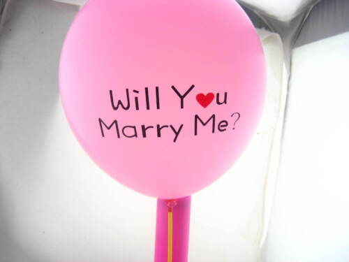 """50pcs 12/"""" will you marry me Latex balloons wedding propose prop party decoration"""