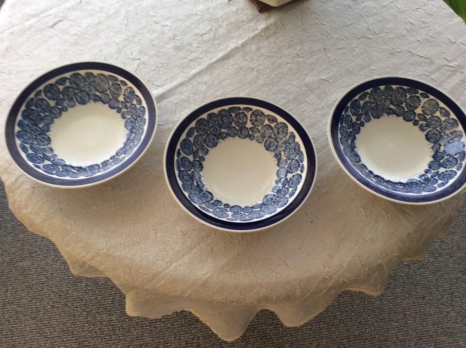 Fajance, 3 morgenmadsskåle, Rörstrand