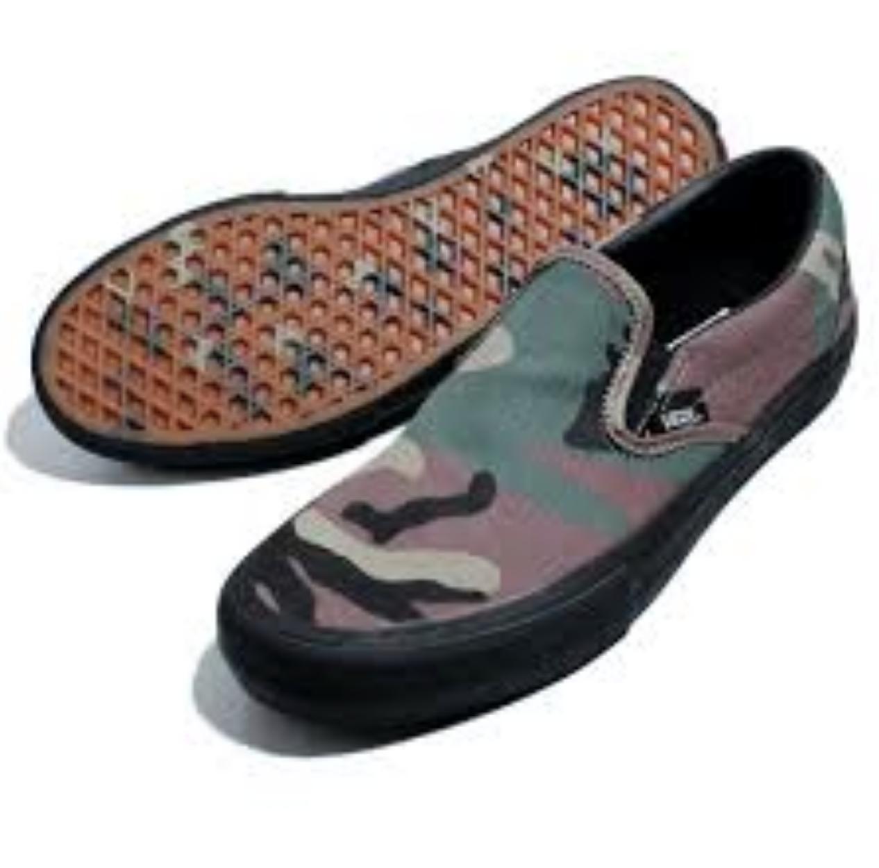 Para Hombre Vans Slip On Camo Pro (Negro) Talla 10.5 NIB (VN 0 a 347 vkaf) 632 HB