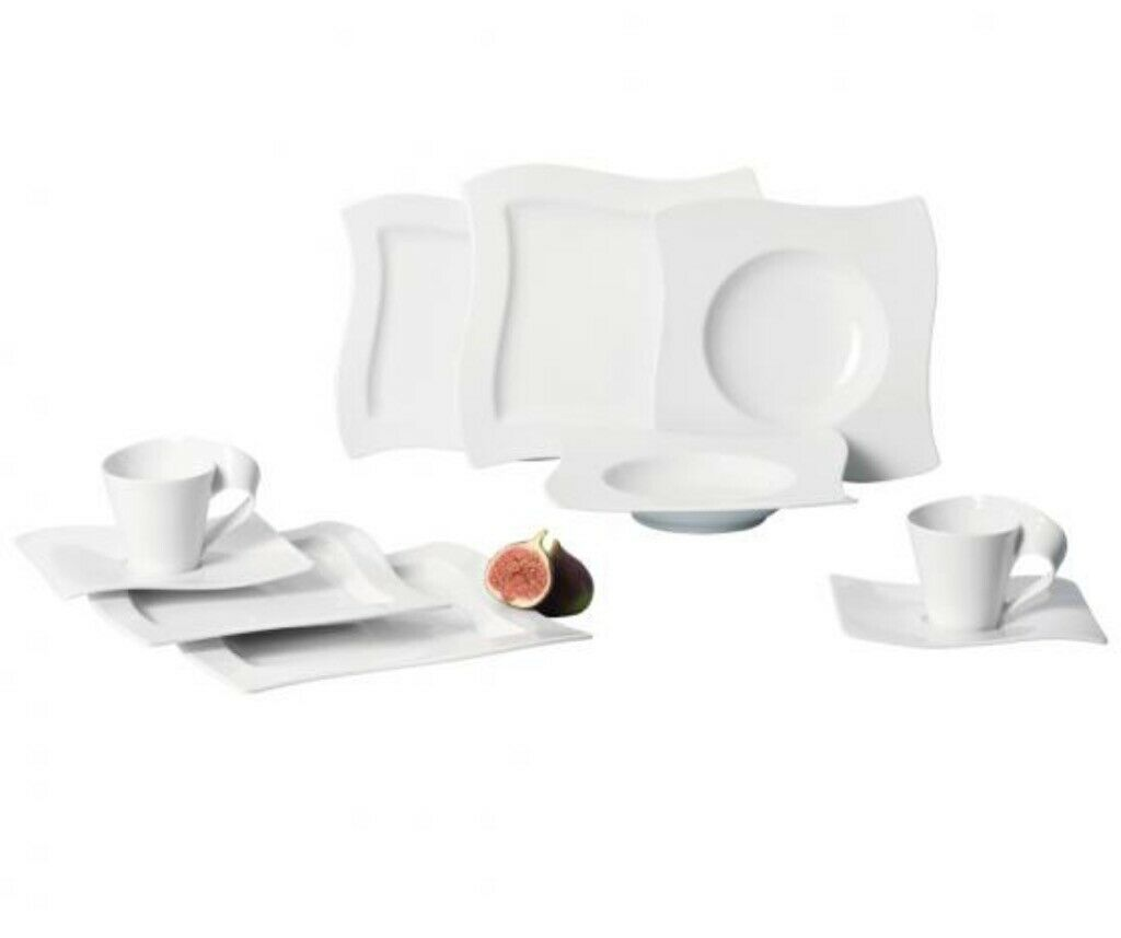 Villeroy & Boch New Wave Basic 30 Piece Dinner Set Kitchenware Dinnerware Sets