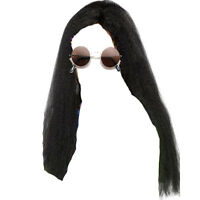Ozzy Osbourne Long Wig & Sunglasses Glasses Rocker Fancy Dress Costume Kit