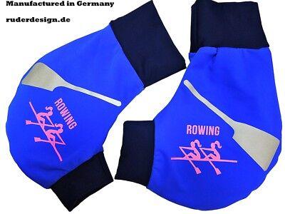 Ruderhandschuhe Schwarz Rowing schwarz//royal Handschuhe Aufdruck Rudern