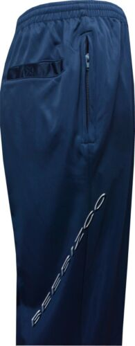 Plain Silky Casual Gym Workout Running Tracksuit Jogging Bottoms Trousers S-3XL