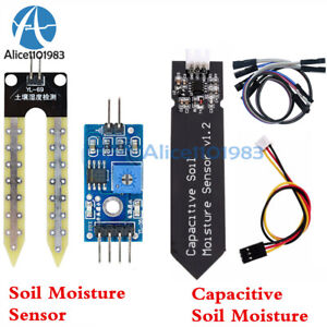 Analog Capacitive Soil Moisture Sensor V1.2 + Sensor Cable Corrosion Resistant