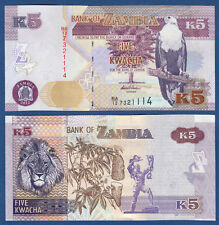 SAMBIA / ZAMBIA 5 Kwacha 2012  UNC  P.50 a