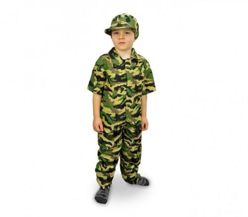 Costume Carnevale Militare Marines Travestimento Bambino Mimetica