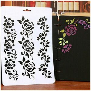 Craft-Scrapbooking-Embossing-DIY-Layering-Stencils-Paper-Card-Painting-Flower