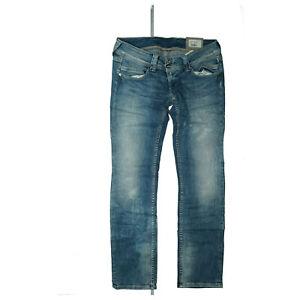 PEPE-JEANS-Venus-Damen-Stretch-Hose-Straight-slim-31-30-W31-L30-acid-Blau-Neu