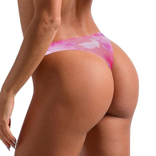 Floral Briefs Underwear Lingerie G-string Panties Women Seamless Thongs Ladies