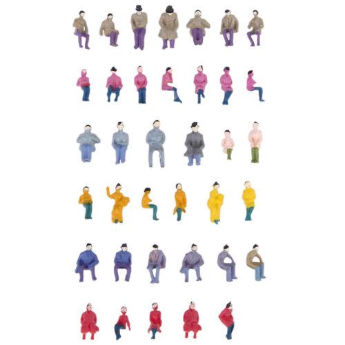 50PCS Railway Park Seated People Passengers Figures Models HO 1:87 Guage