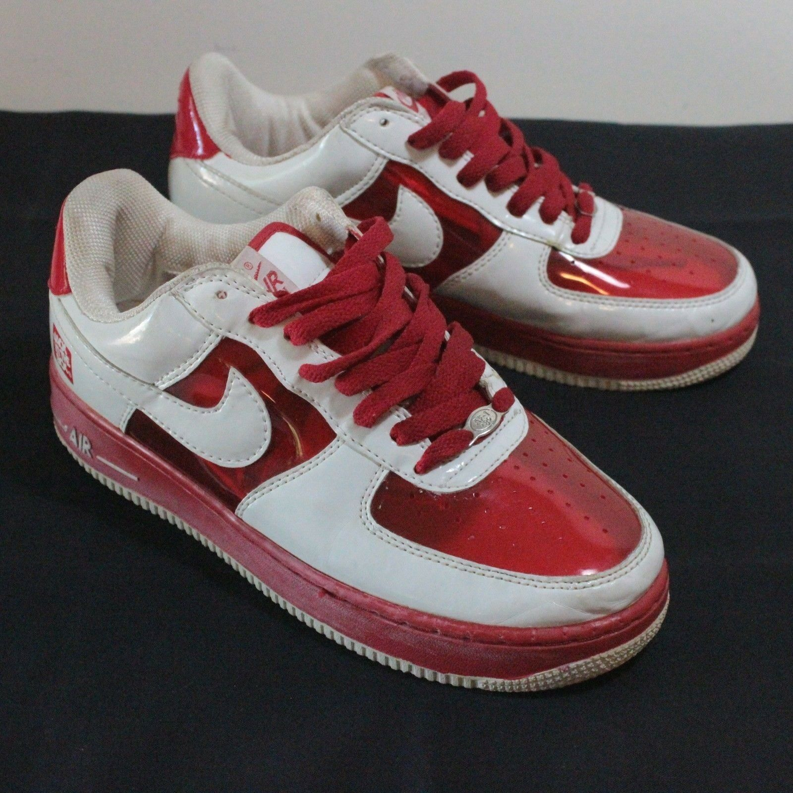 Nike Air Invisible Premium White Clear Red Sz 7.5 Jack In