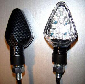 ►2X DUCATI Hypermotard,Tricolore,1198//S,ST2 LED CARBON DEVIL MINIBLINKER E-MARK