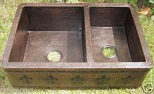 Free Product of Taxes/NEW Copper Sink DOUBLE 60/40 w/Fleur de Lis Design