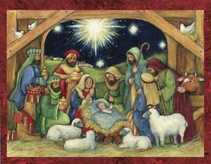 three kings Christmas gift blank handmade greeting cards original art Nativity Christmas greeting card birth of Christ Nativity art