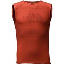 The North Face Mens FLIGHT SERIES WARP TANK TOP Ultimate Running VEST Orange S/M