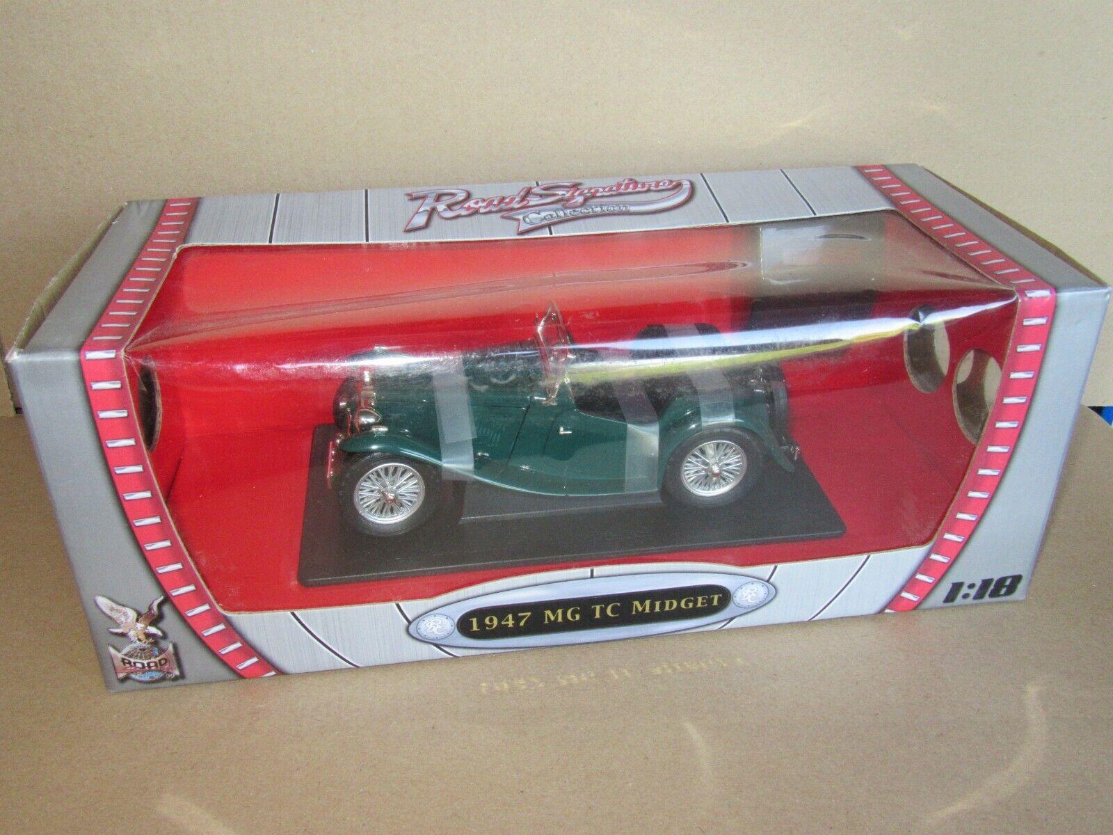 172J strada Signature 92468 MG TC Midget 1947 verde 1 18