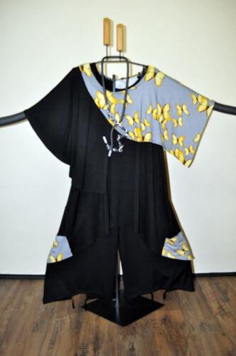 XXXXL MYO Lagenlook Marlene-palloncino pantaloni cordoncino /& buco BLACK Taglia 4//54,56//XXXL