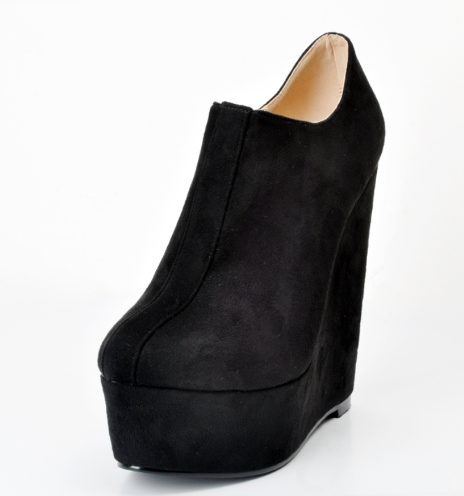 Nightclub Wedge Donna High Heels Side Zip Oversize 35-47 Sexy Shoes Stivali A2147