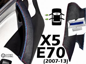 Door Handle Cover BMW E70 X5 (07-13) Black Leather M Sport Stitch LEFT
