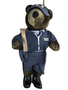 1986-New-in-Bag-PATRIOT-TEDDY-BEAR-U-S-MAIL-CARRIER-20-034-J-J-Wind-Plush-USPS