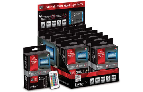 LED Back Light Kit 32-80in TV USB Ambient Moodlight Flatscreen Colored w Remote!