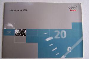 Audi A Quattro Owners Maintenance Schedule Book Manual A A - Audi maintenance schedule