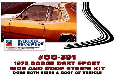MID BODY SIDE STRIPE KIT LICENSED GE-QG-378 1968 DODGE DART
