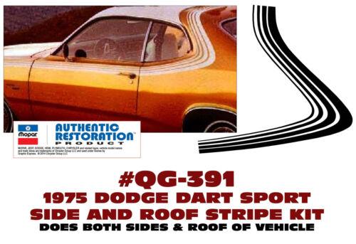 SIDE /& OVER ROOF STRIPE KIT MULTI-LINE FORMAT QG-391 1975 DODGE DART SPORT