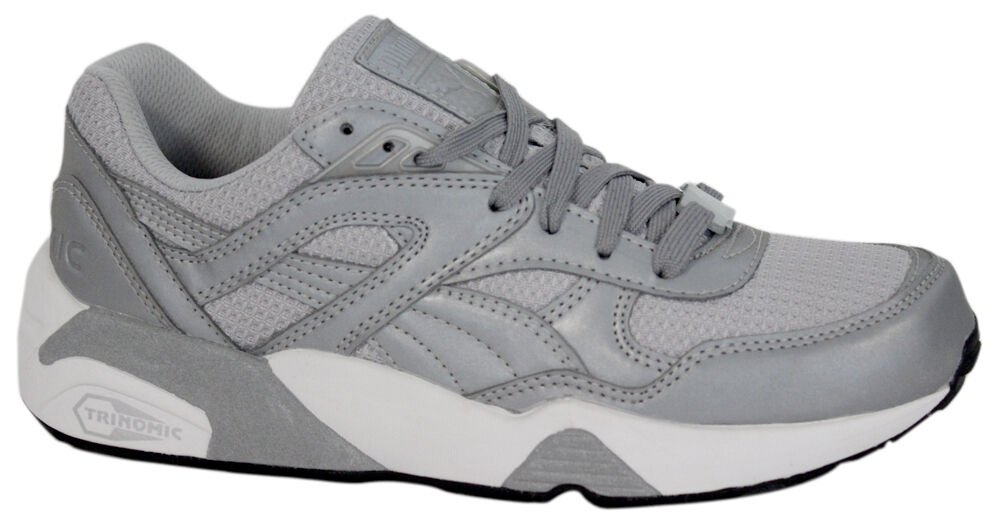 Puma Trinomic R698 Mens Trainers Lace Up Shoes Reflective Silver 358635 01 U98