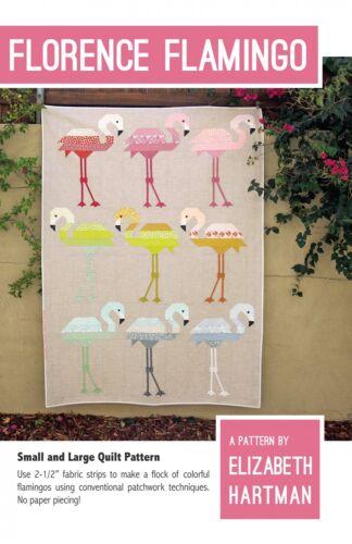 Florence Flamingo by Elizabeth Hartman Quilt Pattern ~ Pieced Bird Animal