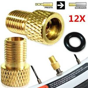 Presta to Schrader Brass Converter for Bicycle Pumps UK 1 to 20 Valve Adapters