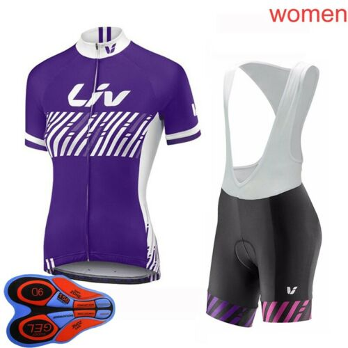 2021 Womens Breathable Cycling Jersey Bicycle shirt Bib Shorts Suit Bike Outfits