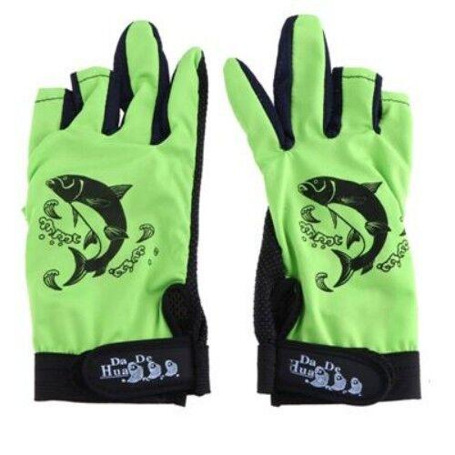 Fishing Gloves For Men 3 Cut Finger Skidproof Resistant