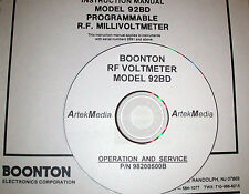 BOONTON 92BD RF Voltmeter , Operating & Service Manual