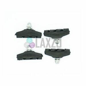 BRAKE-Blocks-2-Pairs-Caliper-Rubber-Black-Bike-cycle-Bicycle-Pads-Shoes
