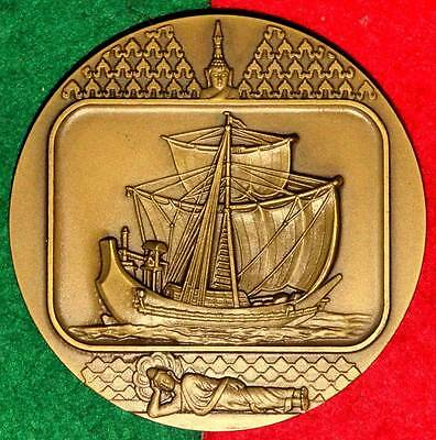 CELEBRITIES BOATS / INDOCHINA BOAT BRONZE MEDAL BY J.ALVES