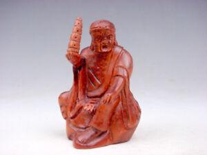 Boj-Tallado-a-Mano-Japones-Articulo-Arhat-Buda-Luohan-Contiene-Torre-09231802