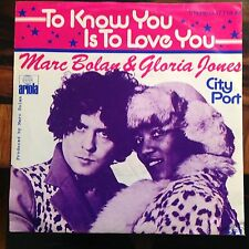 7'Marc Bolan/Gloria Jones >To know you.../City Port< Germany PIC-SLEEVE T.REX